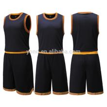 2017 Neueste Basketball Schwarz Jersey Design