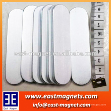 big bar neodymium magnet with two round side/ndfeb strong magnet coated with Zn