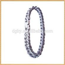 Серебряный цвет горячей продажи нержавеющей стали растянуть цепи браслет и браслет