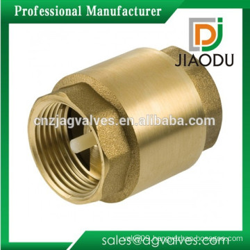 Female Threaded Brass Water Spring Vertical Type Check Valve Forged