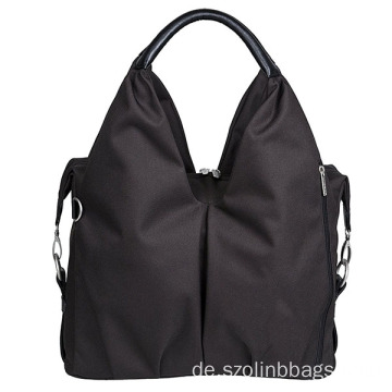 Neueste Design Black Nylon Kinderwagen Windel Tasche