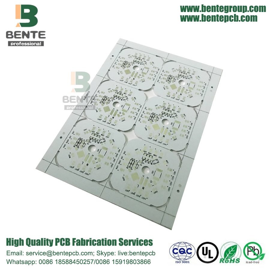 1-Layer PCB Single Aluminum Base Plate ENIG 2u