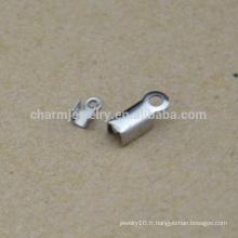 BXG035 Haute qualité en gros à bas prix en acier inoxydable cordon extrémité clip Bijoux trouvailles et composants