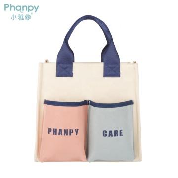 PH100529-1 Phanpy Yichu Mom Bag Tote-Bunte Serie Weiß