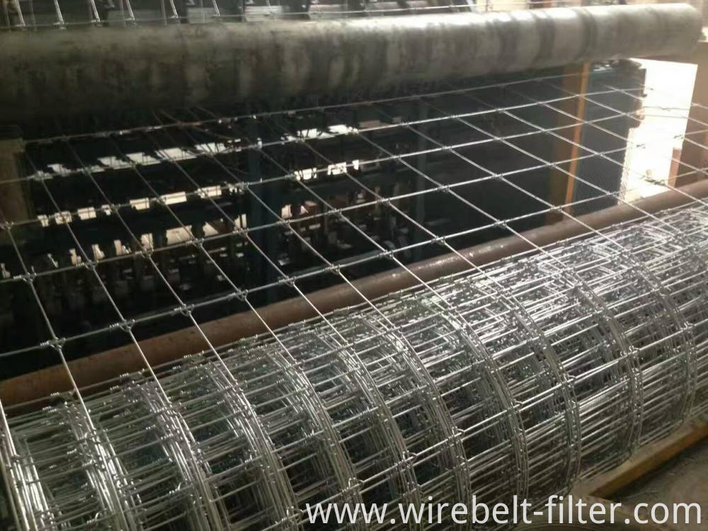 Galvanized fixed knot cattle mesh fence