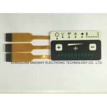 Superposición plana con tres circuitos de cobre flexible