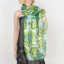 2016 Mode Polyester Satin Streifen Schal mit benutzerdefinierten Design