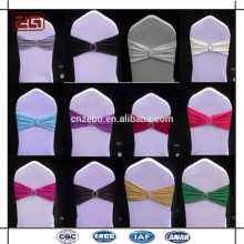 Guangzhou Supply Wedding Usé Décoration Cheap Spandex Chair Sash With Buckle