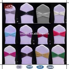 Guangzhou Supply Casamento Usado Decoração Cheap Spandex Cadeira Sash Com Fivela