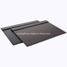 Quality PU Leather Desk Pad with Magnet Top Panel and Pen Slot