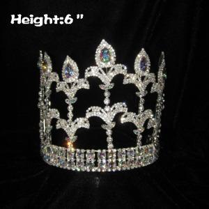 Wholesale Fleur De Lis Pageant Crowns With Clear Diamonds
