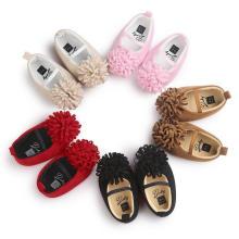 Zapatos de bebé de la suela suave del paño de algodón de 5 colores Mocasines infantiles del niño