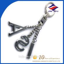 Modische Metall Alphabet Buchstaben Schlüsselbund