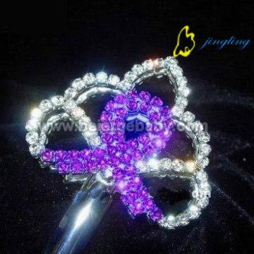 cristal y diamantes de imitación hermosa cetro SC-12003