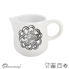 Simple Silk Screen Flower Creamer