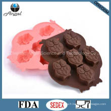 Cutie Owl Silicone Ice Chocolate Mold Outil De Biscuits FDA Approuvé Si08