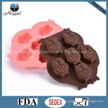 Cutie Сова Силиконовые Ice Шоколад Mold Cookie Инструмент FDA Утвержден Si08