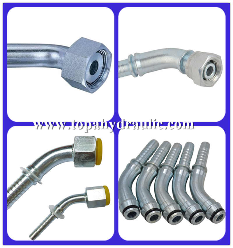 crimping JIC SWAGED hydraulic hose fittings