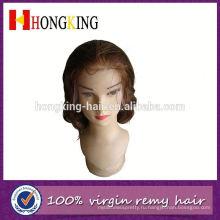 100% Бразильского Виргинские Волос Боковая Часть Парик Фронта Шнурка Сделано В Китае