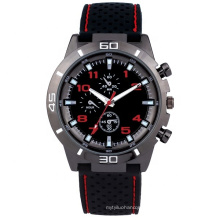 Factory supply men watches wristwatch with PU strap and PC21 movement watch