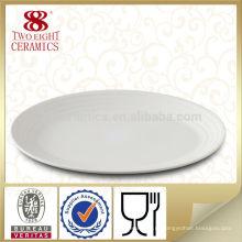 ресторан овальная тарелка / зарядное устройство плиты / плиты рыб