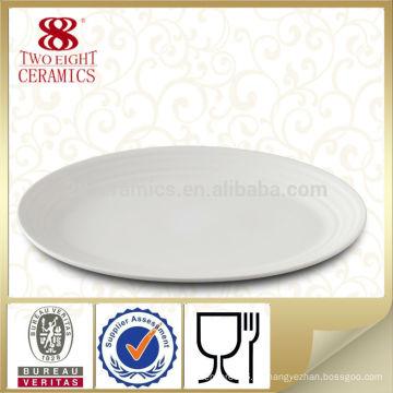 Restaurant oval Teller / Ladegerät Platte / Fischplatte