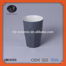 Taza de material de gres sin mango, vasos, taza de cerámica, taza de té sin mango