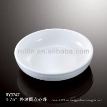 Horno de porcelana blanca duradera y saludable seguro disert plato