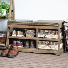 Storage Bench Entryway Shoe Rack Organizer Shelf Seating Furniture Space Saver
