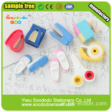 School use Shaped Eraser,knife scissor fancy stationery