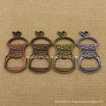 Chaîne principale d'ouvreur de bouteille de forme d'or / argent / cuivre / bronze de style antique