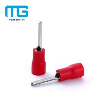 Hochwertige rote Incrudted Pin Terminals von AWG 22 ~ 16