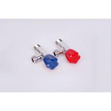 Válvula angular de latão com placa cromada com melhor preço (um par)