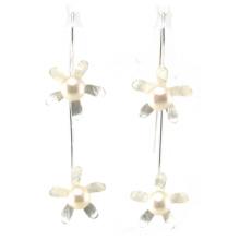 Pendiente de calidad superior de la manera de la señora Jewelry 925 Silver Pearl (E6571)