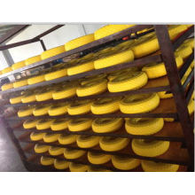 PU 350-8 Trolley Rubber PU Solid Barrow Wheels