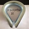 Drahtseil-Fingerhut des galvanisierten Stahl-DIN6899b