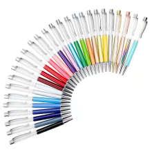 Creative DIY Liquid Floater Pen Glitter Empty Tube Twist Ballpoint Pen Steel Body Empty Pen With Logo Customize