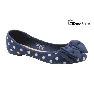 Toile imprimée de mode féminine avec chaussures de ballet plates