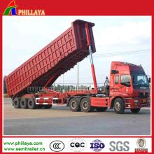 Dumper hydraulique de remorque de camion de 50ton résistant de Tri-essieu