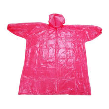 Adult Ponchos, PU Fabric and 130gsm Stripe Jersey, 210T Polyester Lining