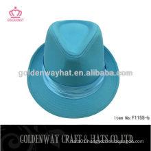 light blue pink trilby/fedora hat