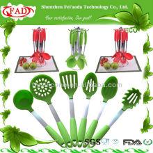 2014 NEU 6 Stück Silikon Küchengerät Utensilien Set
