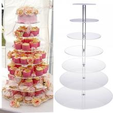 Custom 7 Tier Acrylic Cake Display Stand