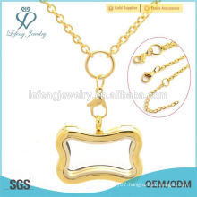 New stainless steel memory locket 18k gold necklace jewelry