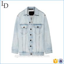 custom100% algodão mulheres manga longa casuais mulheres casaco jaqueta jeans