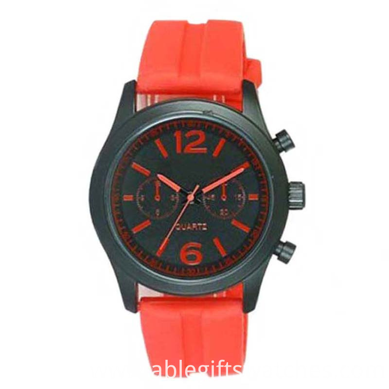 couple silicone quartz watch