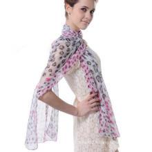 Mode Design Femme Echarpe de bonne qualité Soie Georgette Cappa