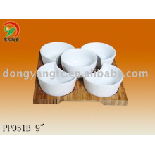 9 Inch ceramic snack serving bowls,ceramic serving dish set
