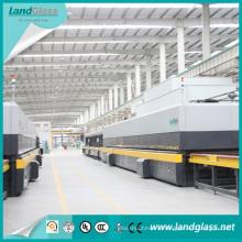 Одобренный CE Landglass горизонтальное строительное стекло ужесточения машина