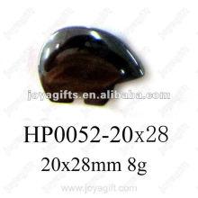 Hematite small Bear Pendants
